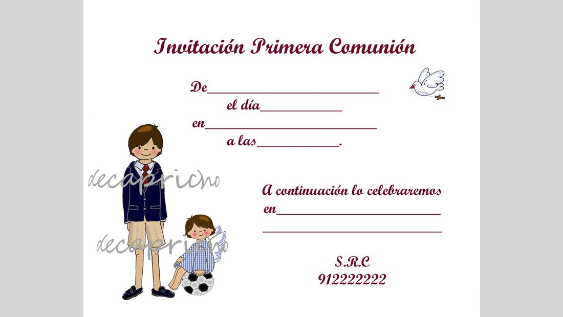 Invitaciones De Comuni N Newhairstylesformen2014 Com