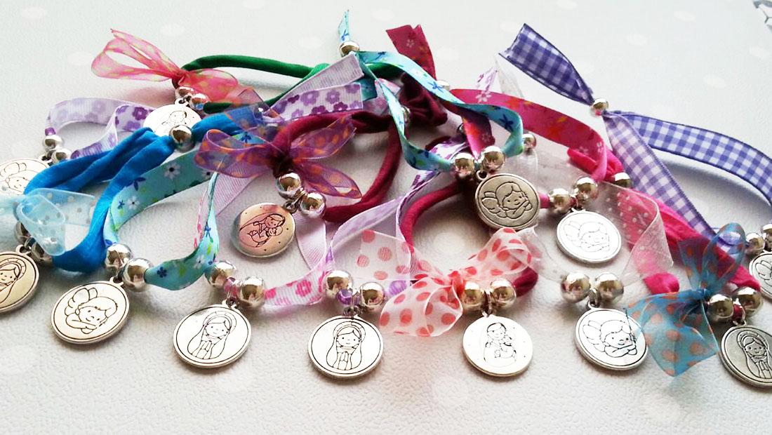 Recuerdos De Capricho Pulseras Medalla Comuni 243 N