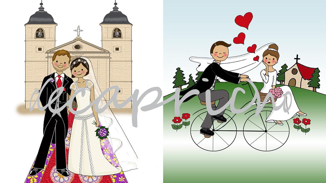 Dibujos personalizados bodas